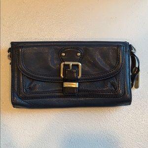 Michael Kors Blue Leather ZIP Wallet